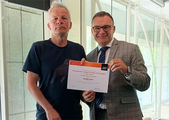 Gordon Fraser and his award